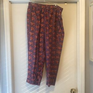 J Crew Tiger Pants silk